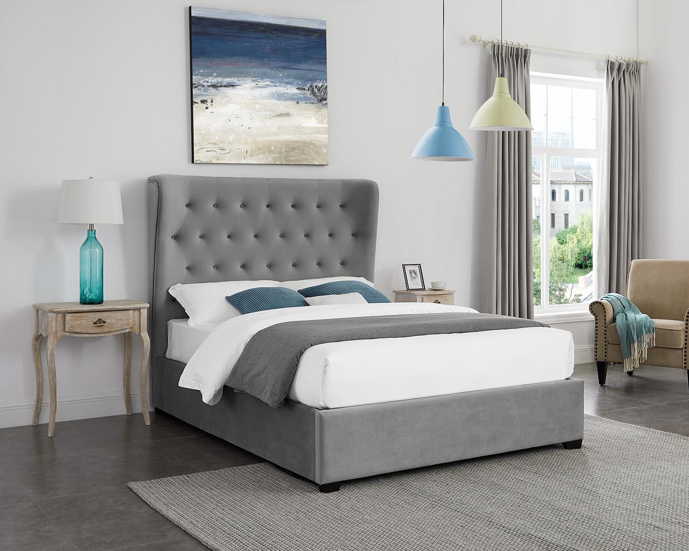 Belgravia Grey Double Bed - Double Beds - Beds - Bedroom ...