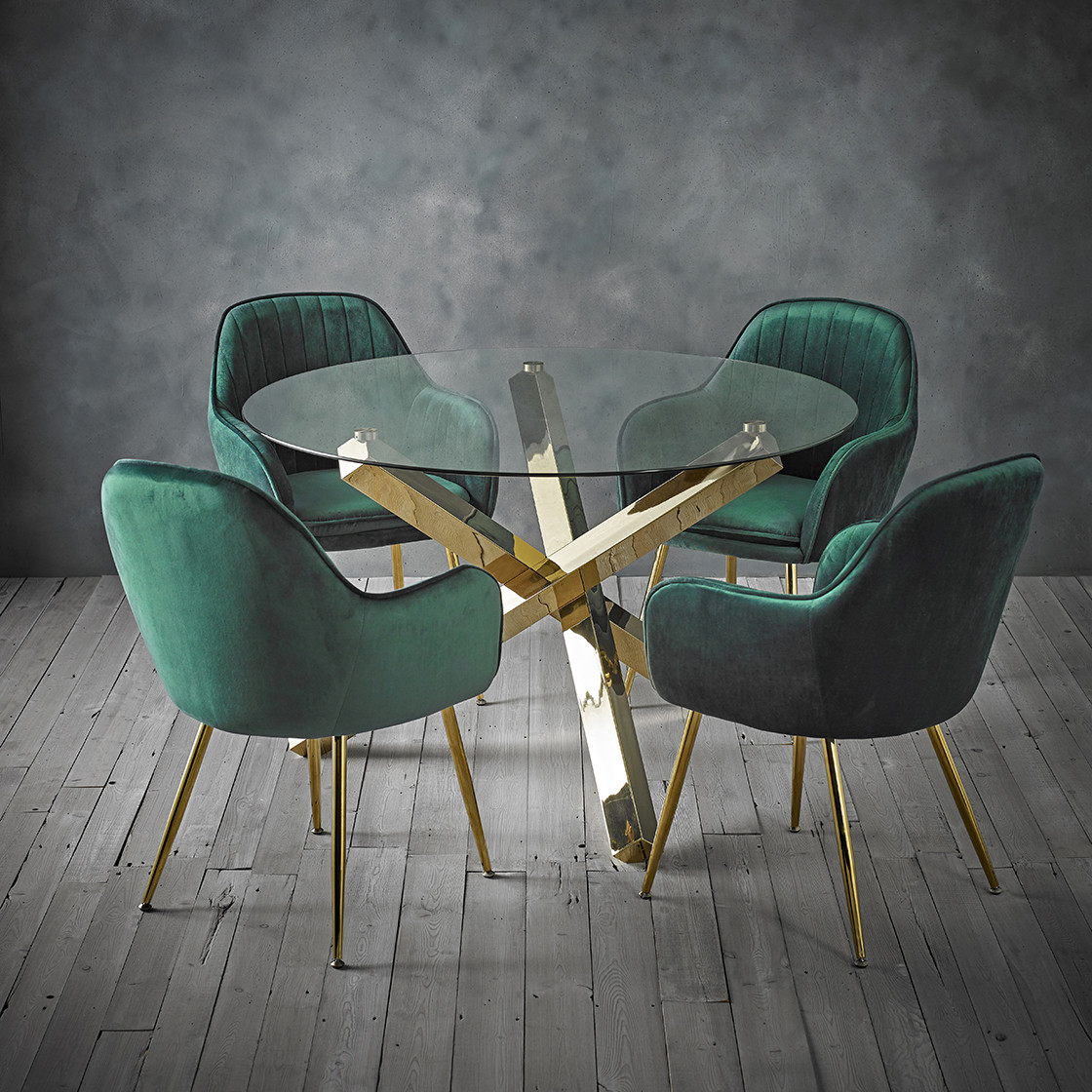 Capri Dining Table Glass Top With Gold Legs Lpd Furniture