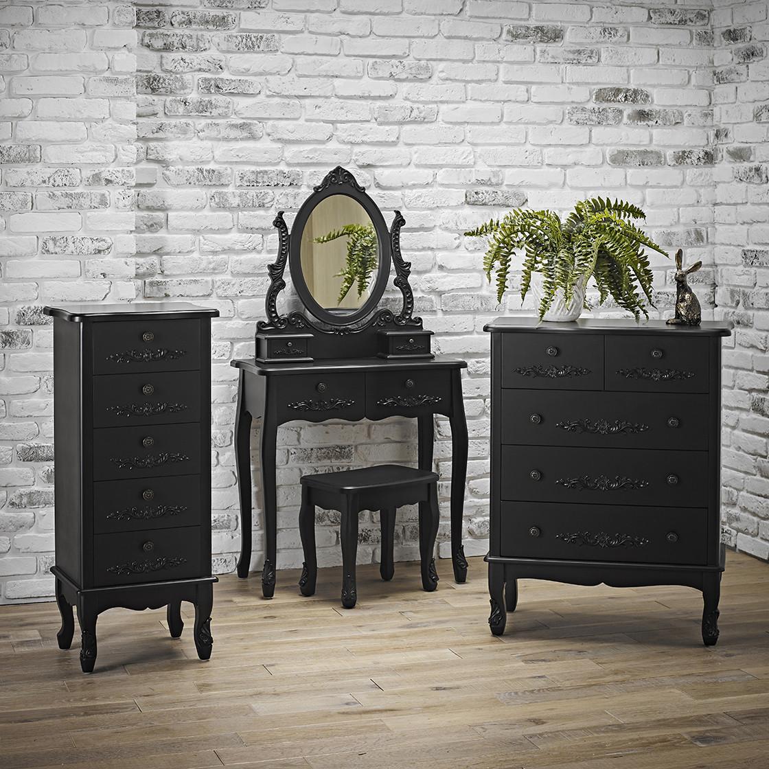 Antoinette Dressing Table Black