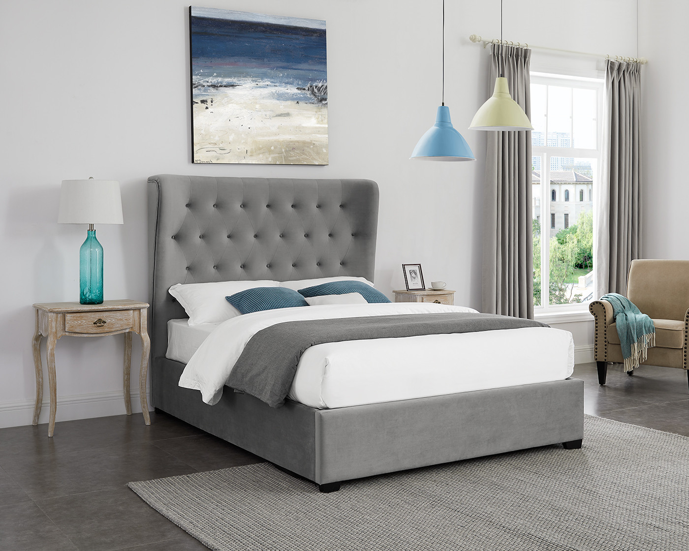 Belgravia Grey Super King Bed