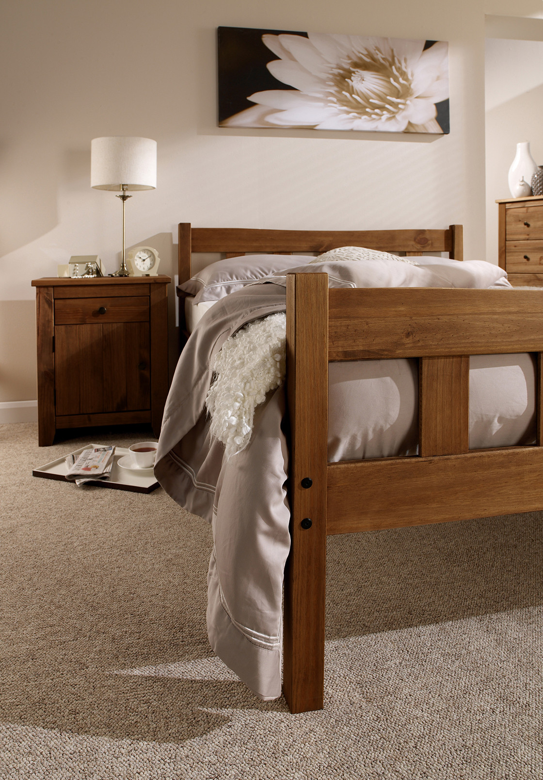 Havana 4.6 Double Bed Pine