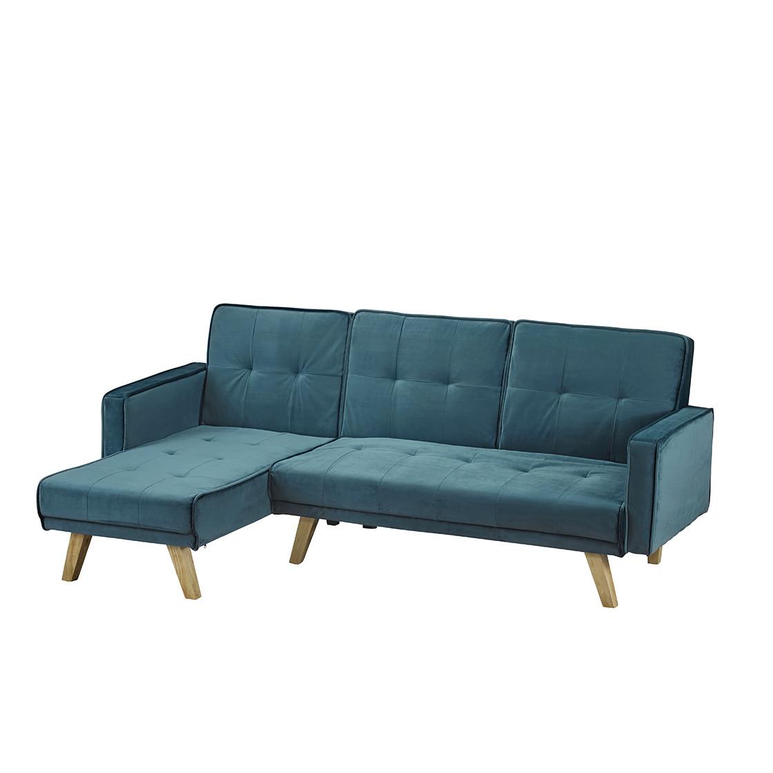 Kitson Corner Sofa Bed Teal Velvet   Living Room Furniture ...
