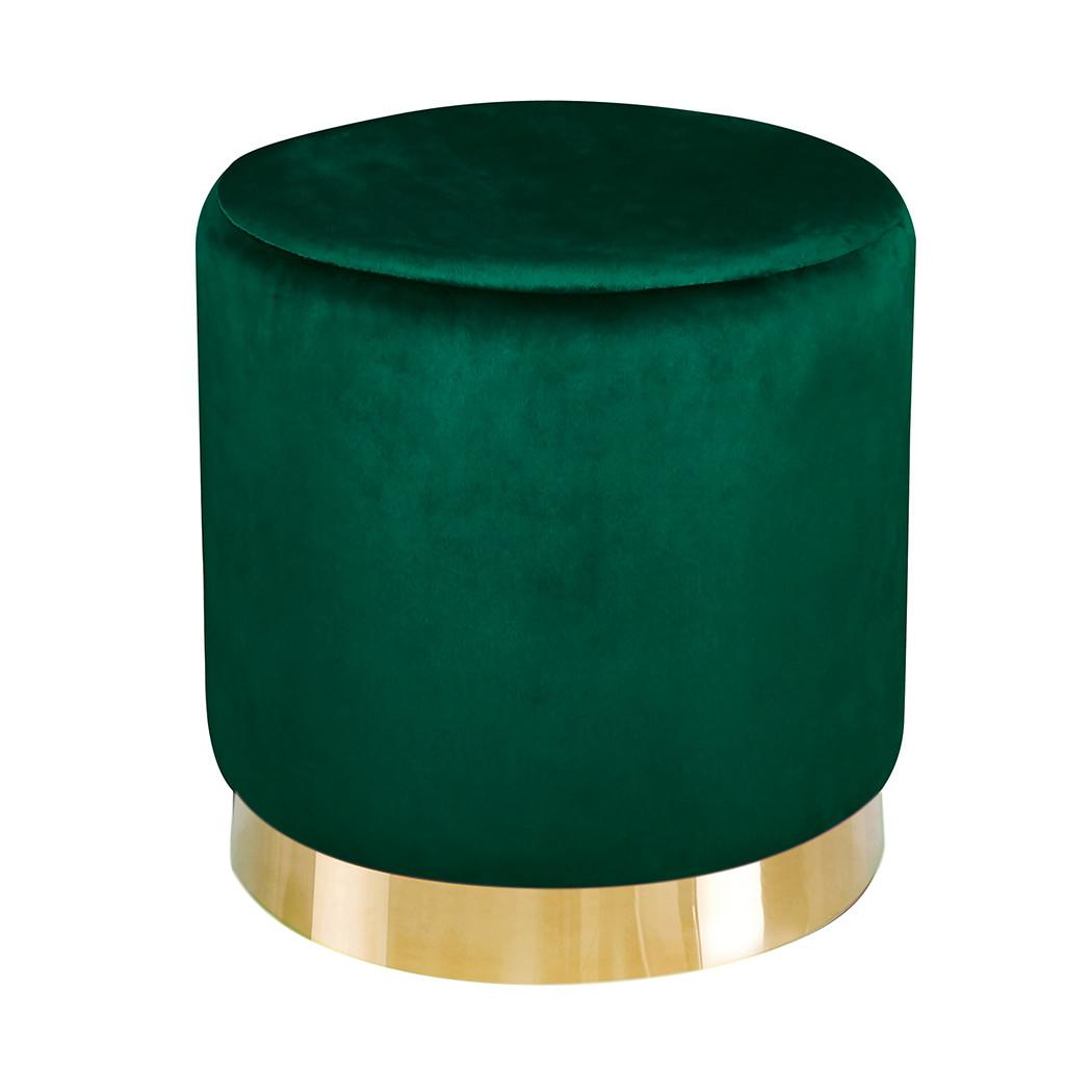 Lara Pouffe Forest Green Velvet (Pack of 1)