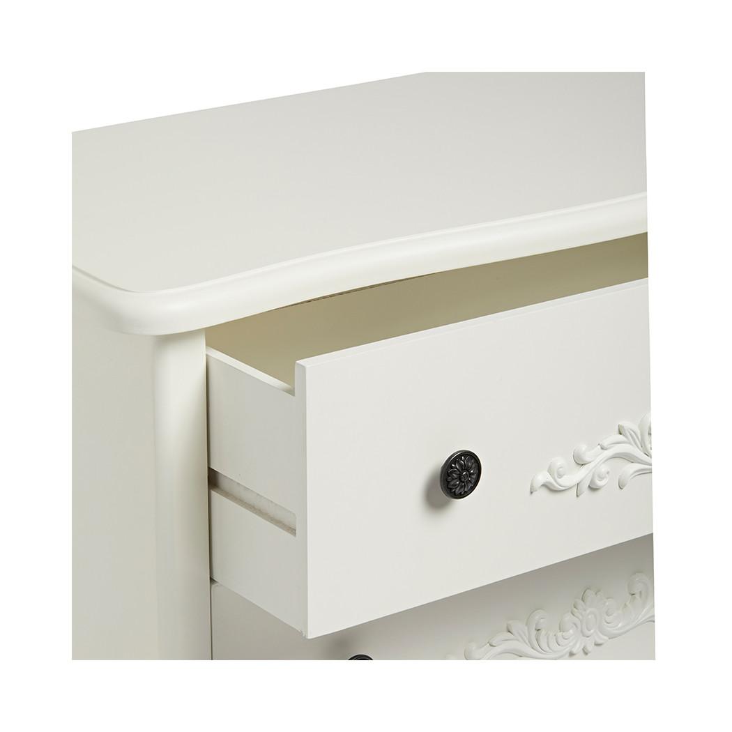 Antoinette 5 Large Drawer Chest White