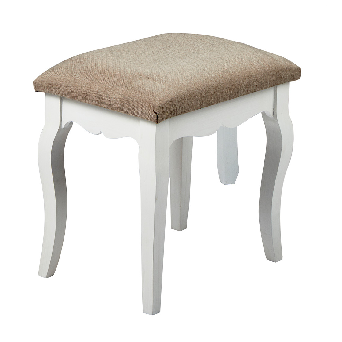 Brittany Stool White-Grey