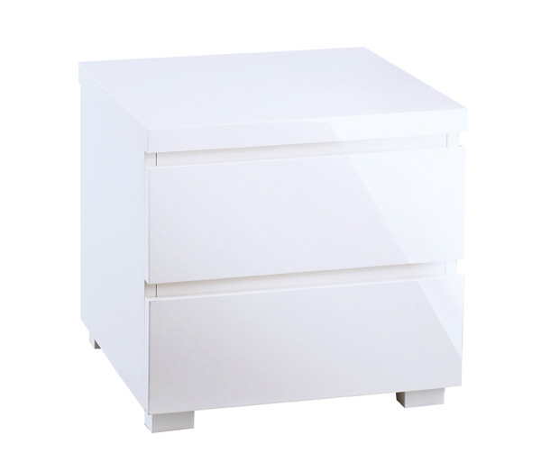 Puro 2 Drawer Bedside White