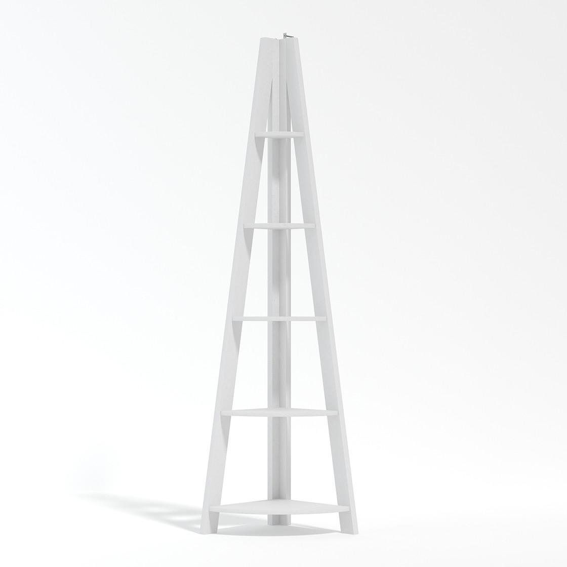 Tiva Corner Ladder Shelving White