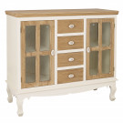 Juliette Sideboard With Glass Cream