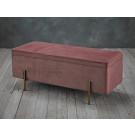 Lola Storage Ottoman Pink