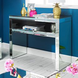 Biarritz Mirrored Console Table