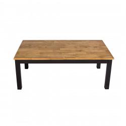 Copenhagen Coffee Table Black Frame-Oiled Wood