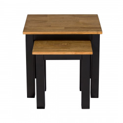 Copenhagen Nest of Tables Black Frame-Oiled Wood