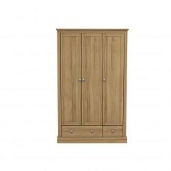 Devon 3 Door 2 Drawer Wardrobe Oak
