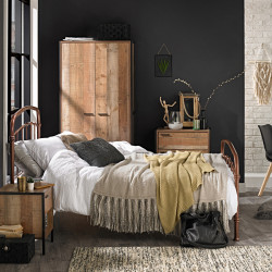 Hoxton 3 Piece Bedroom Set Distressed Oak Effect