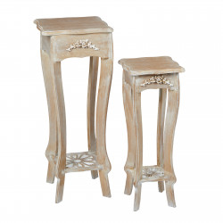 Provence Plant stand set of 2 Weathered Oak