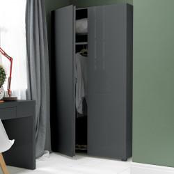 Puro 2 Door Wardrobe Charcoal