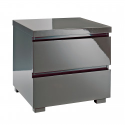 Puro 2 Drawer Bedside Charcoal