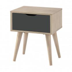 Scandi Oak Lamp Table Grey