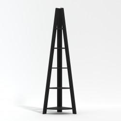 Tiva Corner Ladder Shelving Black