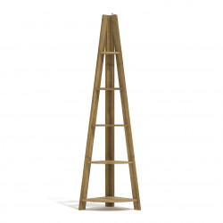 Tiva Corner Ladder Shelving Oak