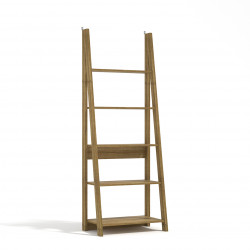 Tiva Ladder Bookcase Oak