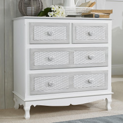 Brittany 2+2 Chest White-Grey