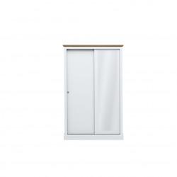 Devon 2 Door Sliding Wardrobe White