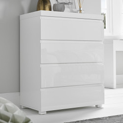 Puro 4 Drawer Chest White