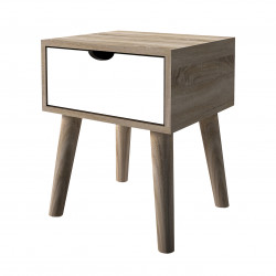 Scandi Oak Lamp Table White
