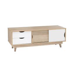 Scandi Oak TV Unit White
